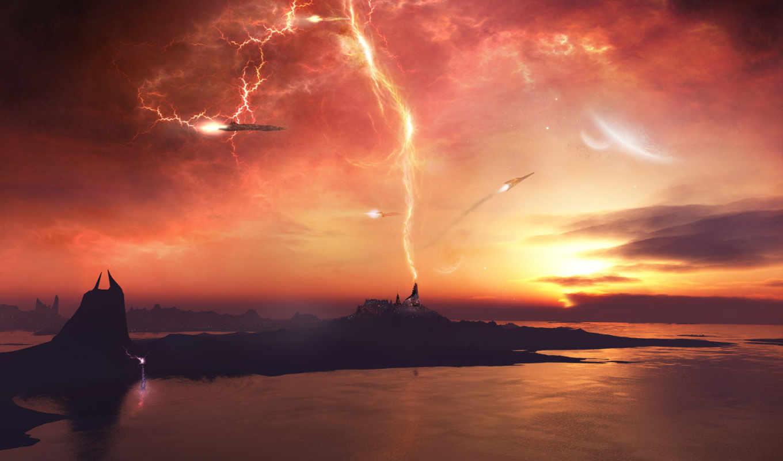 солнечный, буря, изображение, взгляд, free, awesome,