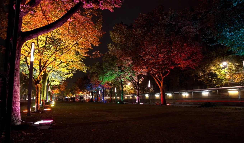 covers, осень, berlin, город, огни, facebook, festival, городе, вечернем, trees,
