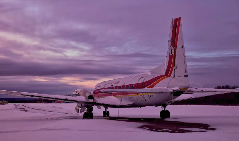 закат, самолёт, аэродром,