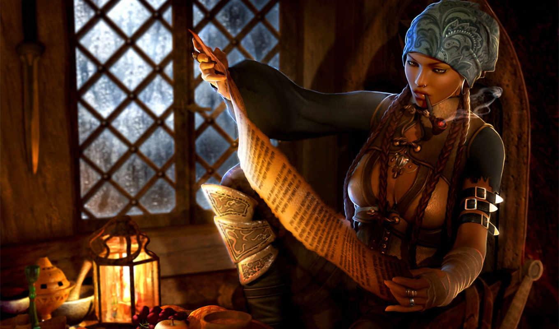 трубка, девушка, пират, каюта, читает, курит, бандана, косички, фонарь, картинка, art,