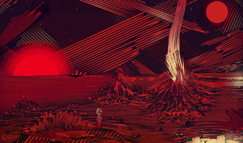 планета, графика, рисунок, abstract, waves, free, space, разное,