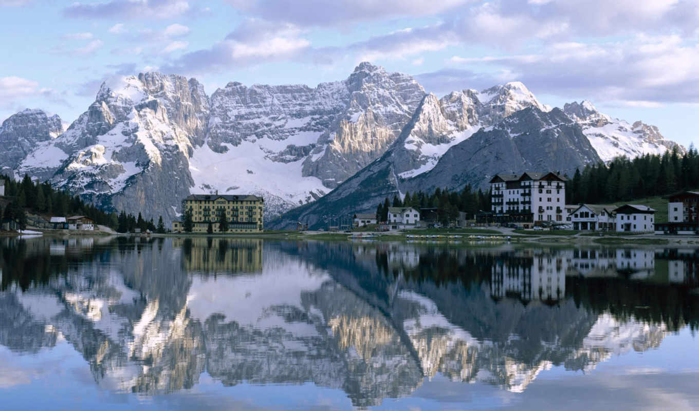 lake, misurina, desktop,