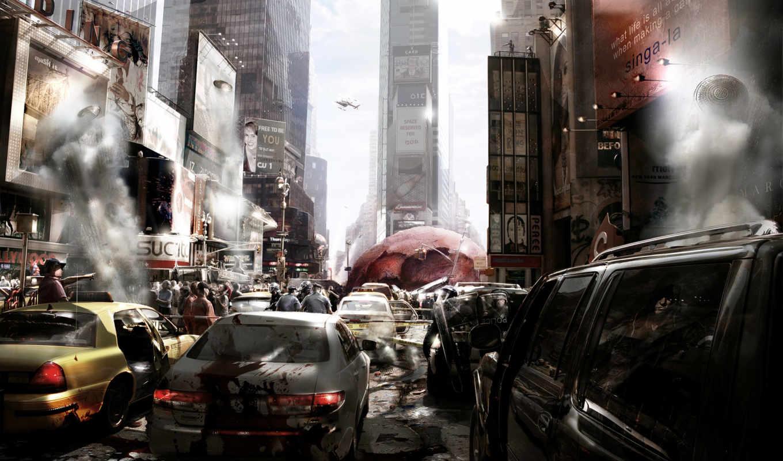 prototype, хаос, город, игра, art, машины, вирус,
