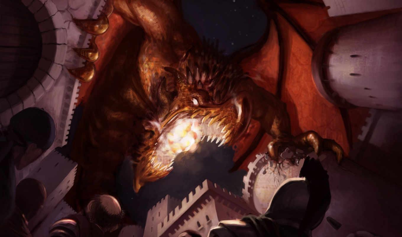 ярость, дракон, атака, пасть,