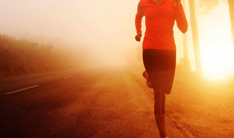 спорт, бег, девушка, движение,