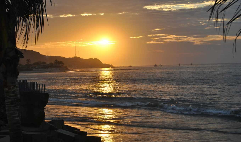 море, побережье, небо, sun, parede, природа, para, закат, смотреть, истинном, обою, закаты, рассветы,