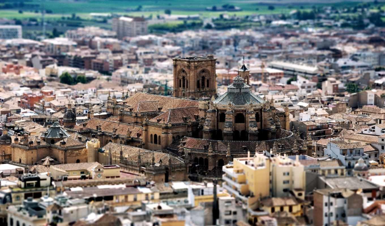 испания, гранада, building, cathedral, tilt, shift,