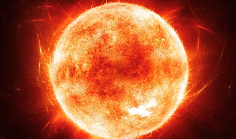 sun, cosmos, протуберанцы, космических, planet, картинка,