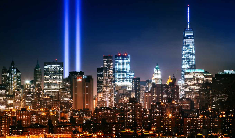 ночь, square, york, usa, город, new, сша, manhattan,
