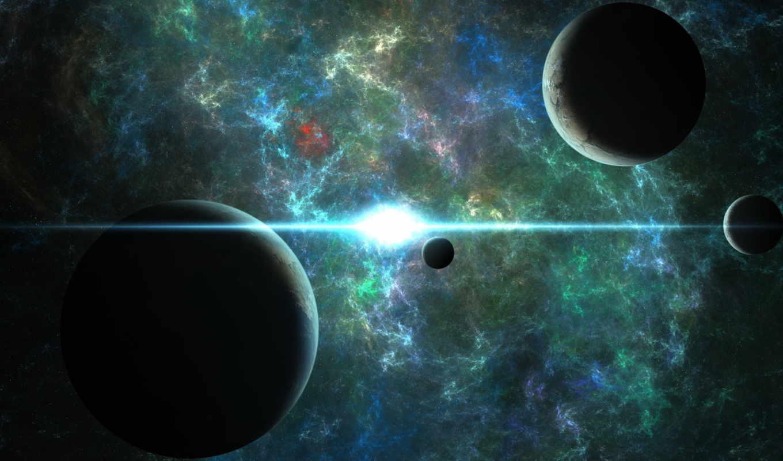 планеты, космос, совершенно, свой, фантастика,