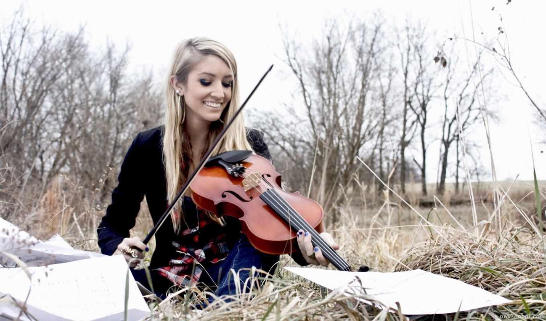 девушка, со, скрипкой, музыка, скрипка, графика, нов, категория,