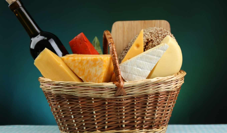 клипарт, продукты, растровый, корзине, хлеб, молоко, молочные, корзина,