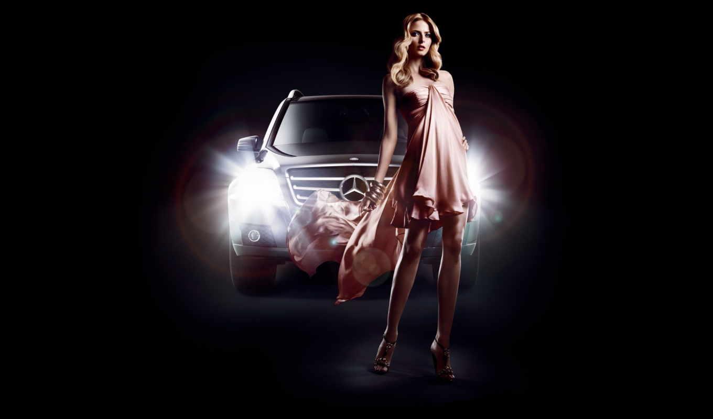 женщина, машине, моей, машина, автомобил,