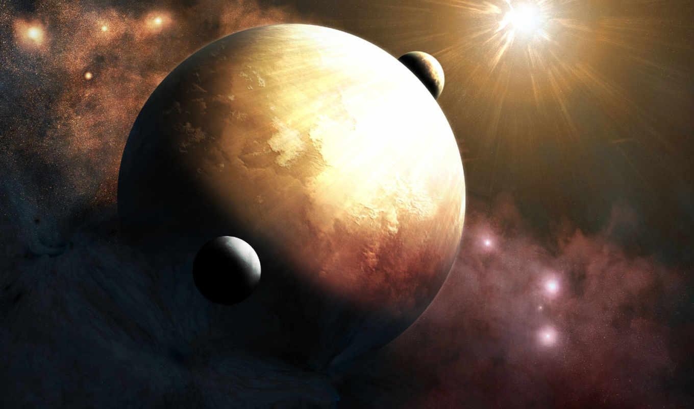 две, луны, было, земли, часть, только, по, говорят, этом, луна, time,