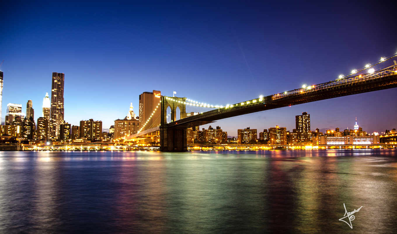 new, york, бруклин, iphone, мост,