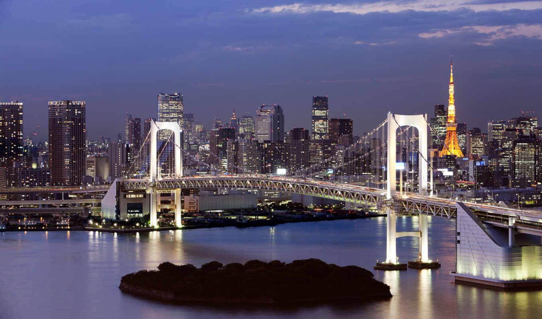 tokyo, радуга, мост, just, фронтовой, bay, глаза, пляж, город, condominium, one, спальня, our,