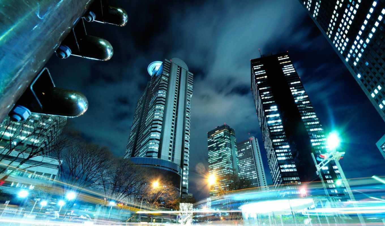 tokyo, япония, город, огни, города,