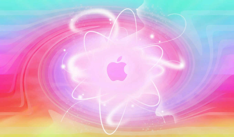 ,apple, logo, blur, colors,