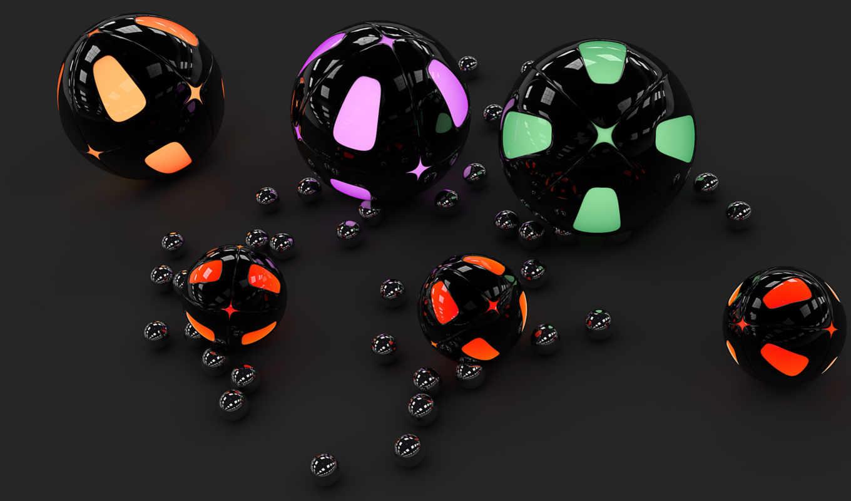 серый, black, browse, графика, шары, neon, gloss,