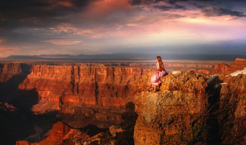 каньон, drysdale, девушка, park, height, grand, national, камень