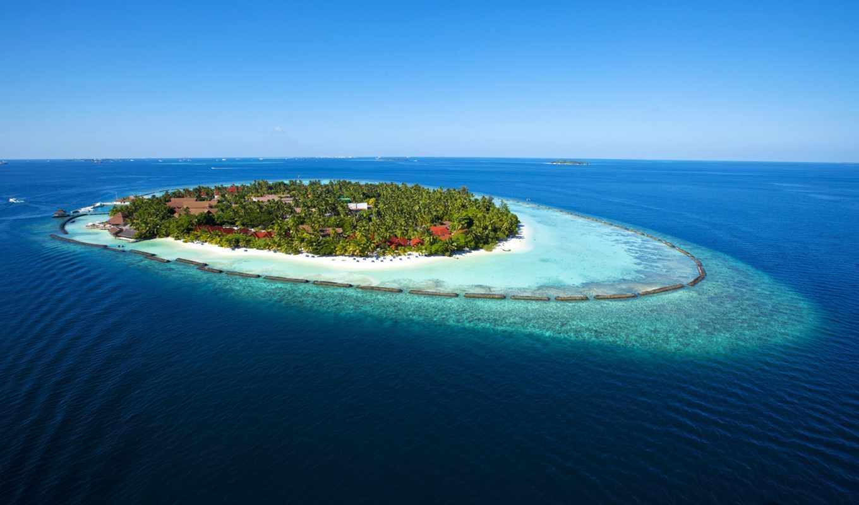 maldives, остров, вода, море, kurumba, отдых, райский,
