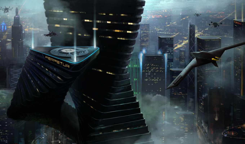 будущее, город, art, мегаполис,
