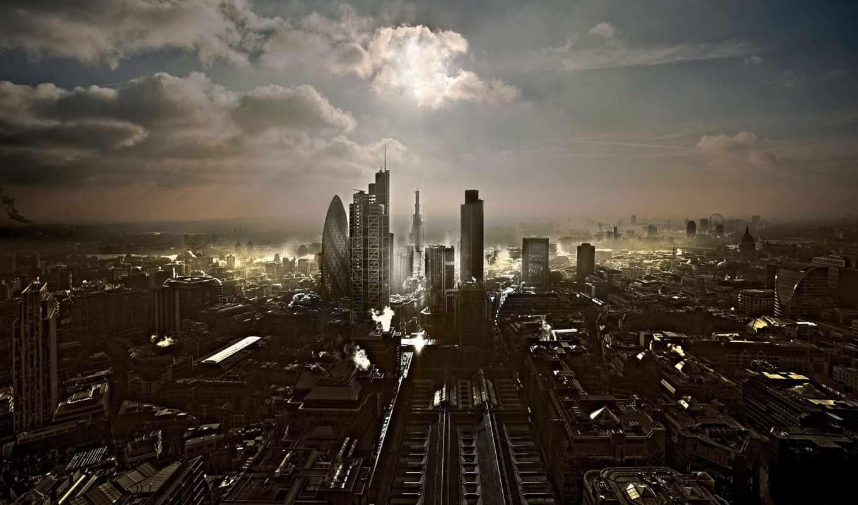 , london, небо, облака