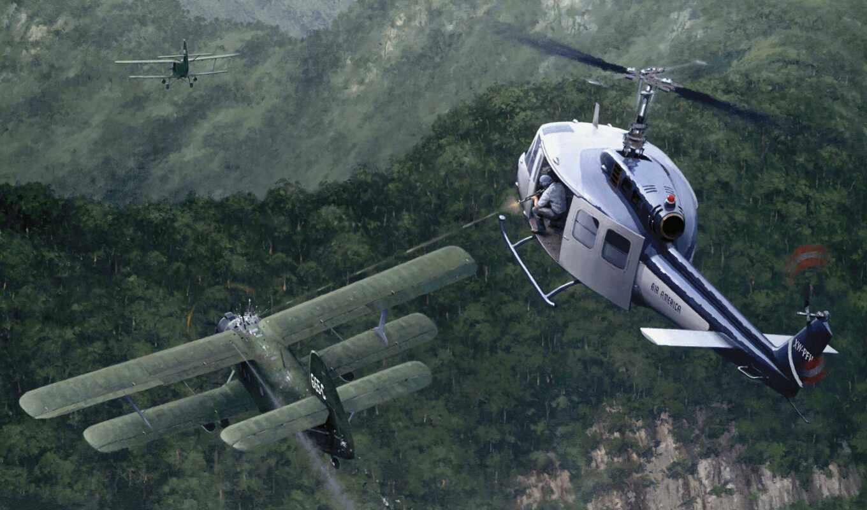 keith, air, woodcock, ан, рисунок, vietnam, вертолет, ana, war, america, north