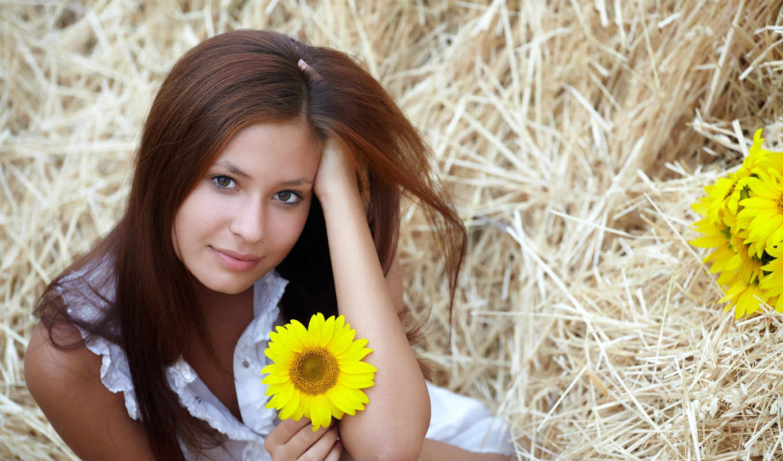women, models, straws, brunettes, hay, girls, фотографии, turbobit,