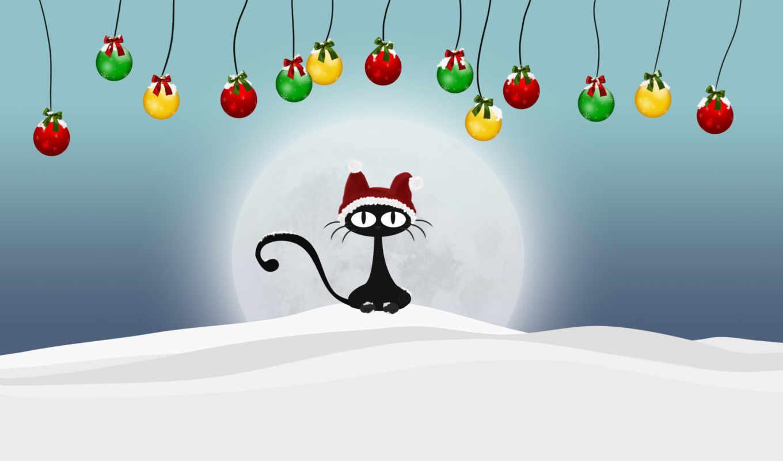 год, новый, кот, кота, картинка,