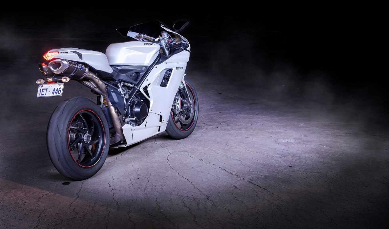 ducati, мотоцикл, дукати, white, bike,