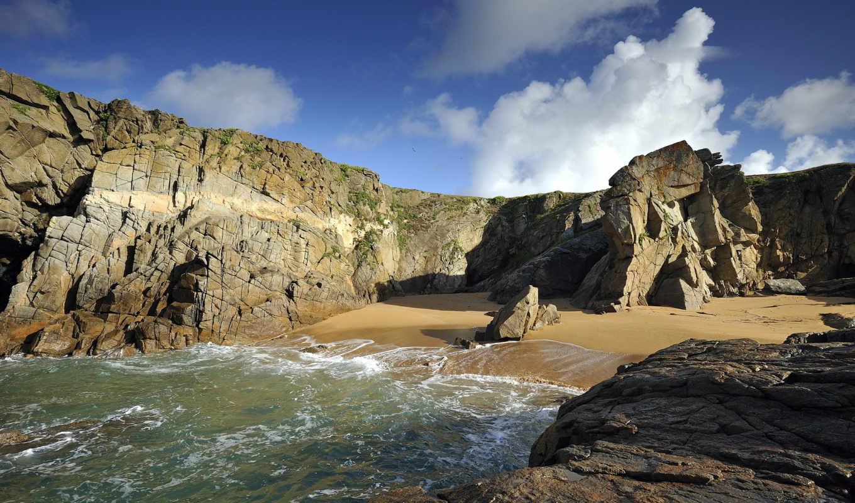 природа, море, скалы, summer, landscape,