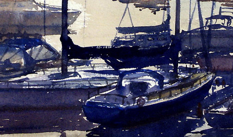 , coffs, harbour, sunset, joe, cartwright, работ, акварели,