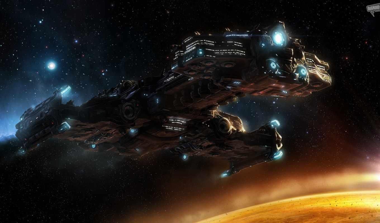 starcraft, звезды, крейсер, линейный, планета, wings, iphone, картинка, liberty,