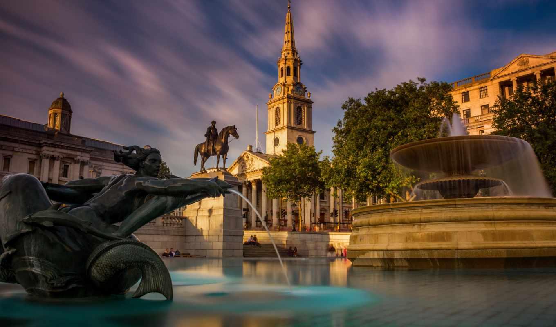 london, trafalgar, square, великобритания, площадь, architecture, country