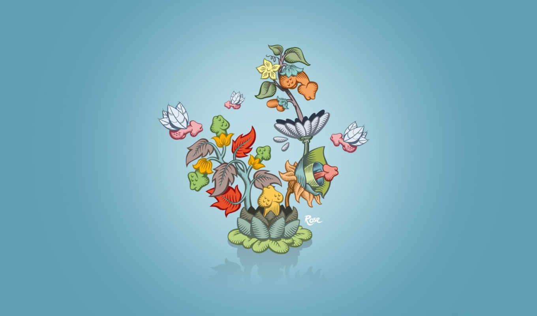 минимализм, особенный, цветок, смотрите,