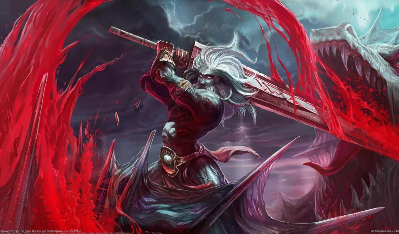кровь, дракон, арт, chenbo, меч, воин, битва доспехи, сражение, дракон,оружие, щит, горы,