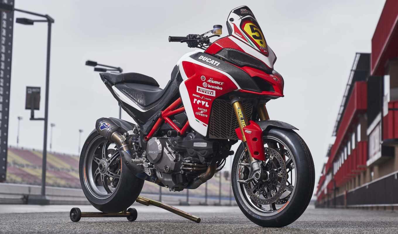 ducatus, multistrada, щука, peak, мотоцикл, рисунок, racing, red, пять, publish, супер