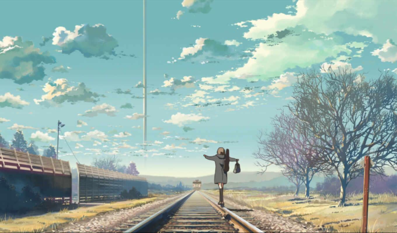 макото, обои, синкай, небо, облака, совершенно, ре