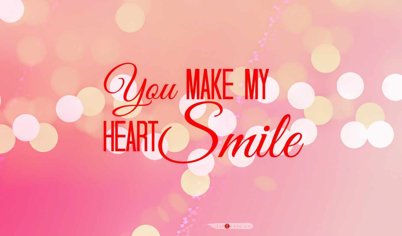 smile, heart, love, розоый, афоризм