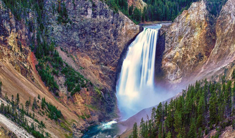 водопады, красивые, водопад,
