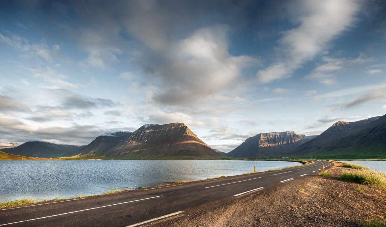 дорога, небо, гора, desktop,