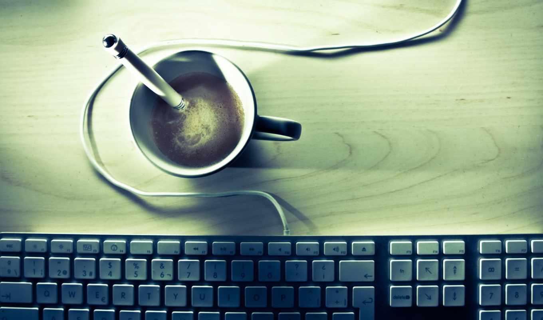 клавиатура, coffee, desk, бренд, high, apple,