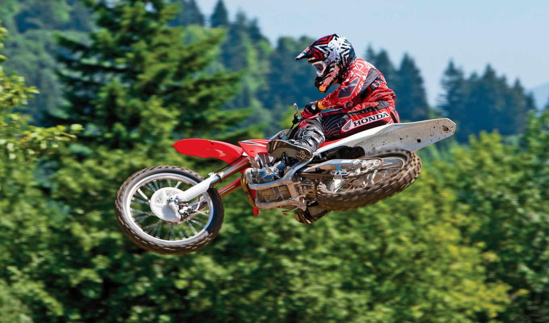 спорт, мотоциклы, jump, motocross, только, широкоформатные, мото,