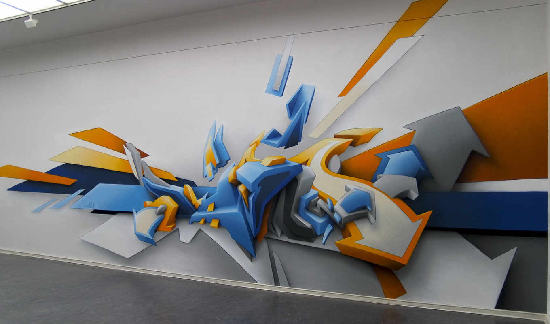 рисунок, graffiti, стена, графити, графика,