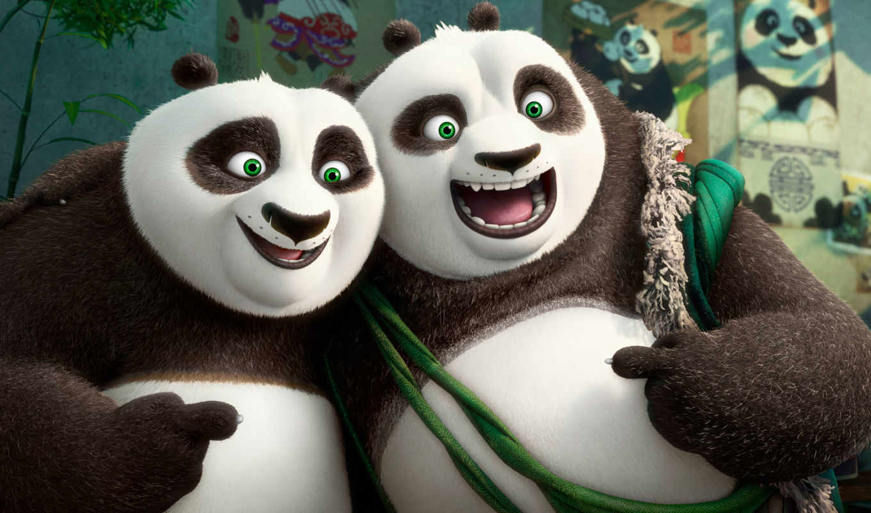 голова, панда, кунг, год, массаж, boo, задолго,