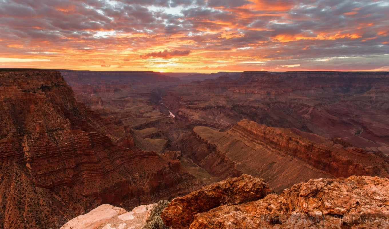 каньон, закат, сша, canyons, пейзажи, небо, плато, природа, grand, скалы, usa, солнце, колорадо, код, лучи, аризона, картинка, штат, большой,