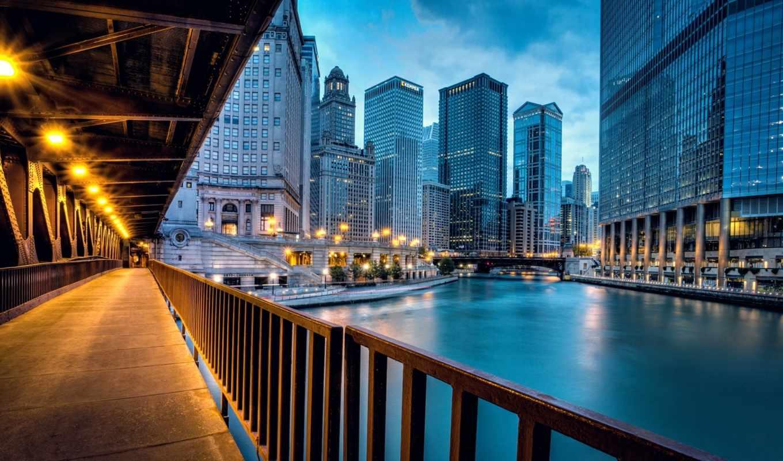 город, chicago, usa, york, new, взгляд, follow, здания,