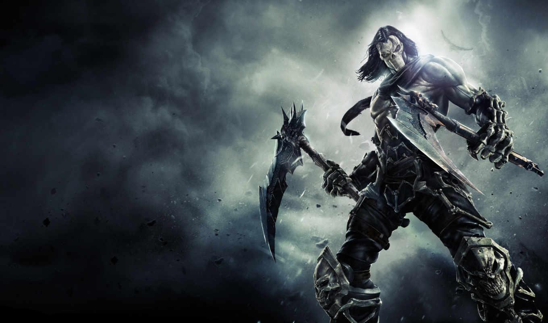darksiders, смерть, косы, маска, кости,