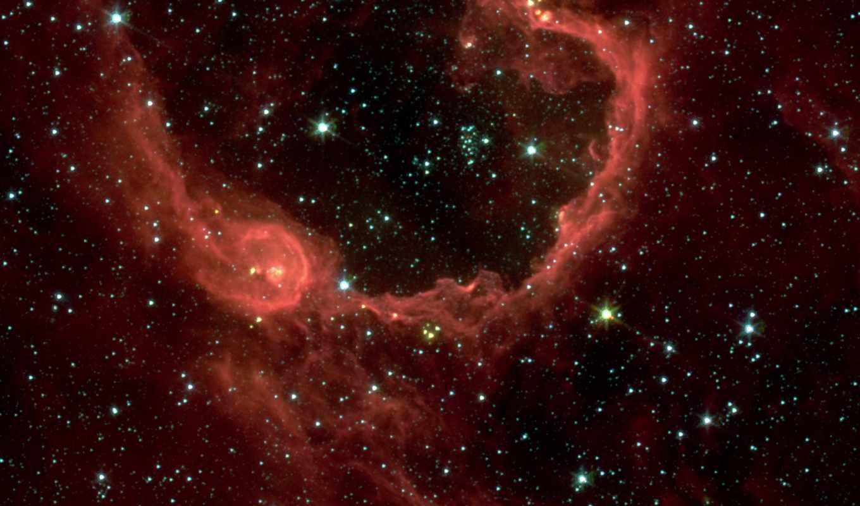 rcw, space, pocket, bubble, хаббл, bursts, spitzer, way, вселенная, milky,